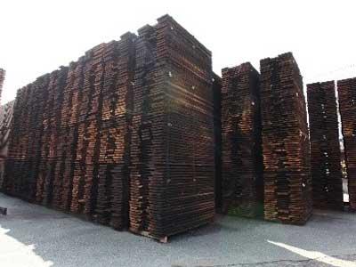 木材の乾燥風景